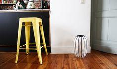 Tabouret Tolix jaune trouvé sur Made in Design, à découvrir sur le blog.