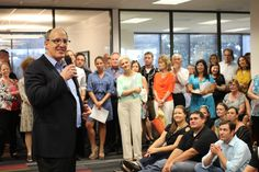 Our CEO Jay Steinfeld speaking about the opening of the new office! Make it your office too: http://blnds.cm/blindscomjobs #OpenHouse