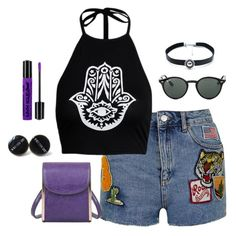 """Schools OUT!!"" by mellowworldfashion on Polyvore featuring Topshop, Mellow World, Ray-Ban, Child Of Wild, NYX, school, ootd, casualoutfit and edgy"