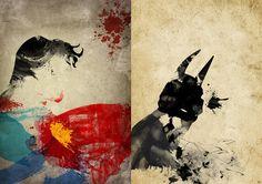 9 posters artísticos de superhéroes de Marvel y DC Comics on http://www.dotpod.com.ar