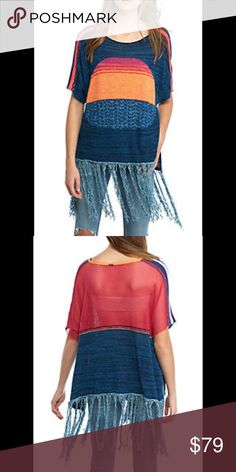 Free People Sunset Fringe Sweater Stay festive in fringe with this simply fabulous sweater! Designed with a cozy scoop neck and the incredible softness of cotton, this sweetly chic piece is sure to make a splash in your collection of off-duty favorites.                    Smoke Free Pet Free Home Free People Sweaters