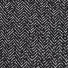 Italian Black Herringbone Wool-Blend Suiting