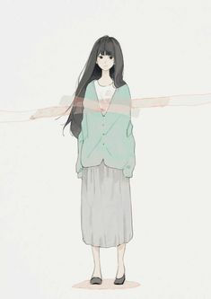 Discovered by Find images and videos about art, anime and text on We Heart It - the app to get lost in what you love. Girls Anime, Anime Art Girl, Manga Girl, Art And Illustration, Character Illustration, Manga Kawaii, Manga Anime, Anime Style, Aesthetic Art