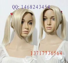 Little Ugly Harley Quinn COS wig New sexy Short girls Blonde Cosplay wigs #Unbranded #FullWig