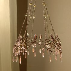 Another exquisite creation by the one and only sassytrash a bronze and pink sunshower chandelier keyboard keysfo Gallery