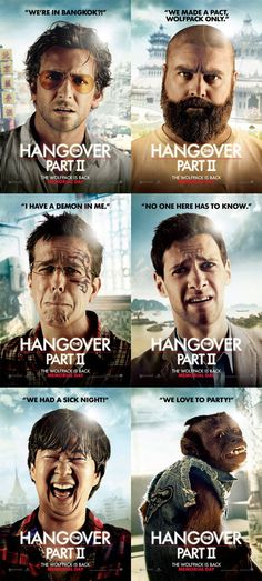 I so frickin' LOVE the 'Hangover' movies! Both of them rock!