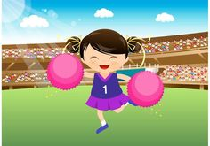 Free Girl Cheerleader Performing At The Stadium Vector -   Cute vector illustration of a little cheerleader girl performing with pom poms at the stadium.  - https://www.welovesolo.com/free-girl-cheerleader-performing-at-the-stadium-vector/?utm_source=PN&utm_medium=weloveso80%40gmail.com&utm_campaign=SNAP%2Bfrom%2BWeLoveSoLo