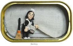 Nathalie Alony / Tiny Art in a Sardine Can. Cute! Could make in an Altoids Tin