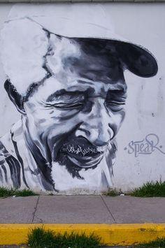 Street art in Huaraz, Peru by Belgian artist Spear