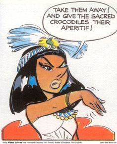 Cleopatra from the Asterix and Obelix comic