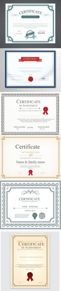 Stunning Vector certificate template 6in1 Download Now #certificates #template #graphics #design