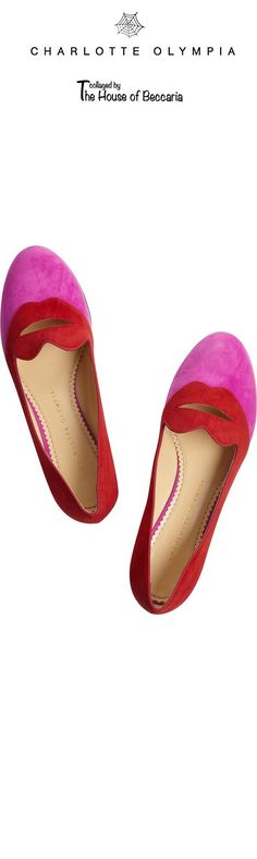~Charlotte Olympia Bisoux Suede Smoking Slippers | The House of Beccaria