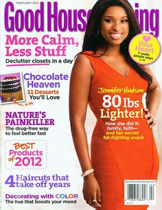 Who made Jennifer Hudson's orange dress that she wore on the cover of Good Housekeeping? Dress – Herve Leger