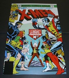 MARVEL OLD X-MEN vs NEW X-MEN POSTER 15 DAVE COCKRUM & NEAL ADAMS ART/WOLVERINE/ICEMAN/BEAST