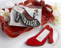 Show off your inner fashionista with this practical first class fashionista red high heel luggage tag! The perfect accessory for all travel buffs! Go in style with our first class luggage tag! Made of high-quality, flexible rubber Open-toed shoe h Unique Wedding Favors, Unique Weddings, Wedding Ideas, Wedding Gifts, Wedding Souvenir, Red Wedding, Elegant Wedding, Wedding Details, Wedding Events