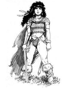 Female Ranger with Sword - Elmore Masterworks - Miniature Lines