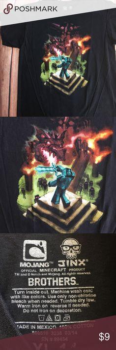 "Minecraft Dragon Tee Gently used boys tee, 100% cotton, chest 38"", length 23"" Mojang Jinx Shirts & Tops Tees - Short Sleeve"