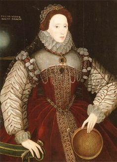 "I of England reigned Portrait of Elizabeth I of England,oil on panel,George Gower ""The Red Sieve Portrait"", Attr. to George Gower. Elizabethan Costume, Elizabethan Fashion, Elizabethan Era, Renaissance Fashion, Renaissance Clothing, Elizabeth Bathory, Elizabeth I, Tudor History, British History"