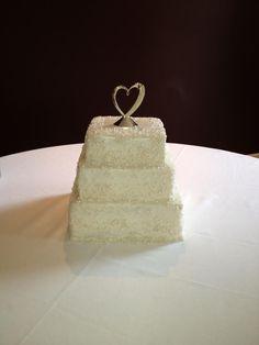 Pearls and Crystals Wedding Cake Bake Your Day, LLC - Alexandria, LA www.facebook.com/bakeyourdayllc (318) 229-0299 bakeyourdayllc@hotmail.com