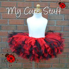 Ladybug Colors Princess Tutu Sizes 6 Months to 5T by mycutestuff