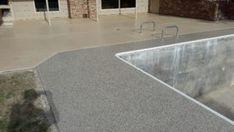 Pool Deck Concrete Resurfacing Huntsville AL Concrete Resurfacing, Concrete Coatings, Concrete Floors, Concrete Patios, Swimming Pool House, Swimming Pools, Epoxy Floor, Tile Floor, Stamped Concrete