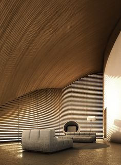 Living room in House of Convexities - design Antonino Cardillo architect