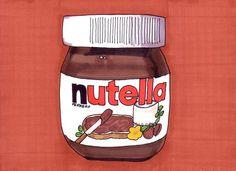 Nutella-5x7 inch Print from Original Illustration. $5.00, via Etsy.