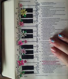 What a beautiful word picture for Bible journaling, and easy too!