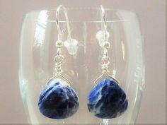Faceted Sodalite Briolette Gemstones & by JewelryDesignsByKara
