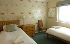 The twin bedroom in Woodlea - Self Catering Cottage on the lsle of Arran, Scotland Isle Of Arran, Self Catering Cottages, Scotland, Twin, Bedroom, Furniture, Home Decor, Decoration Home, Room Decor