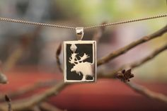 Small Sterling Silver Rectangular Onyx Moose Pendant with Sapphire – Jackson Hole Jewelry Company