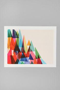 Cynthia Alvarez For Society6 Mixed Shades Print  $24.00 #pattern #geometric