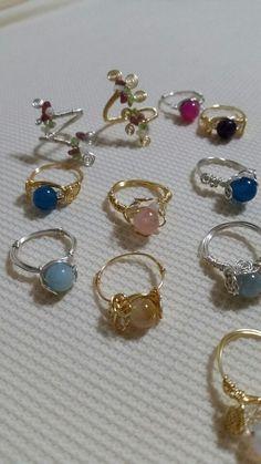 Wire Jewelry Rings, Handmade Wire Jewelry, Cute Jewelry, Crystal Jewelry, Jewelery, Jewelry Accessories, Wire Jewelry Designs, Handmade Rings, Skull Jewelry