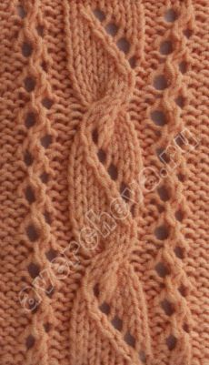 Lacy cable with chart Lace Knitting Stitches, Lace Knitting Patterns, Cable Knitting, Knitting Charts, Lace Patterns, Easy Knitting, Knitting Designs, Stitch Patterns, Knit Crochet