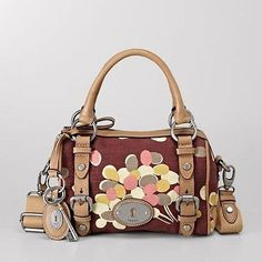 awesome NWT Rare Fossil Maddox Medium Satchel Red Multi Shoulder Purse Hand Bag - For Sale View more at http://shipperscentral.com/wp/product/nwt-rare-fossil-maddox-medium-satchel-red-multi-shoulder-purse-hand-bag-for-sale/