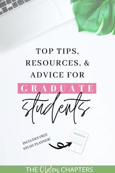 Top graduate school tips and resources to ensure your grad school journey is successful. Includes top study tips, how graduate school differs from undergraduate education, scholarship resources, graduate school organization ideas, and so much more. Even includes a free study planner to help skyrocket your GPA and ace those upcoming exams! Read now to learn the top grad school tips today. #gradschool #college