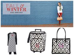 Initials Inc - Fall/Winter 2013/2014 stylebook I can't get enough of the locket print. Apron, rolling cooler and Town and Country handbag.