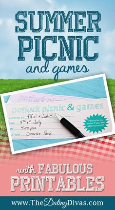 Celebrate summer with an easy potluck picnic and fun party games that EVERYONE will enjoy! www.TheDatingDivas.com #partygames #partyideas #partyideasforadults