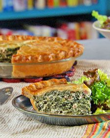 Spinach and Ham Pie from Mad Hungry - think I'll try this with the leftover ham from Easter!