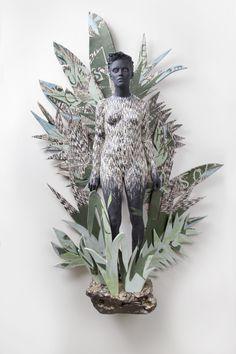 Green - verde - woman - figurative - sculpture - Cristina Cordova
