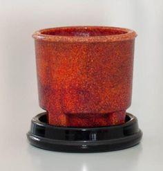 Leerdam, A.D. Copier, red graniver cactus pot