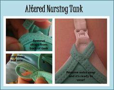 DIY nursing tank you can wear over a nursing bra. (Pinterest, you make me feel so dumb.)