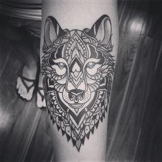 mandala wolf tattoo - Google Search