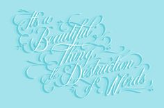 The Destruction of Words by Olivia King, via Behance