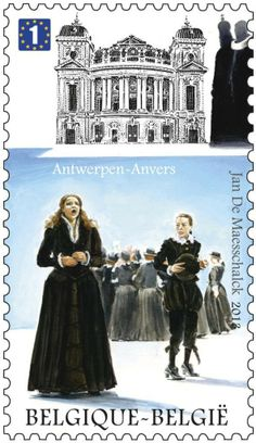 """Briefmarke: Antwerp Opera: """"Don Carlos"""" - Guiseppe Verdi (Belgien) (Verdi & Wagner) Mi:BE 4382,Bel:BE 4336"""