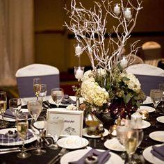 Manzanita Branches Centerpieces for weddings | Manzanita Branch Centerpiece - branches ... | Red and Aqua Wedding Id ...