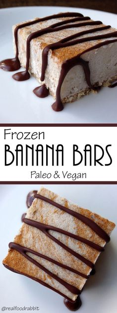 The perfect summer treat: Frozen Banana Bars (Paleo, Vegan, and free of: grains, gluten, dairy, eggs, soy & refined sugar)