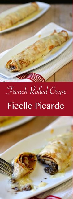 Discover the recipe of traditional ficelle picarde, a mushroom and creme fraiche filled crepe au gratin from the north of France. Crepe Recipes, Brunch Recipes, Breakfast Recipes, Dessert Recipes, Desserts, Crepes Filling, Crepes And Waffles, Canadian Food, Thinking Day