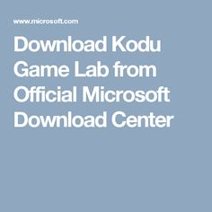 kodu game lab download windows 7