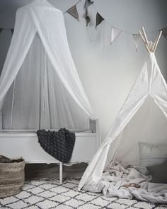 soft greys and white for a kids room